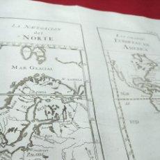 Arte: ANTIGUO GRABADO SOBRE LAS COLONIAS EUROPEAS EN AMÉRICA Y LA NAVEGACIÓN DEL NORTE 1771.ABAD M. PLUCHE. Lote 194311485