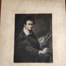 Arte: GRABADO ORIG. DE BARTOLOMÉ MAURA (MALLORCA 1844). PINTÓ ESTEBAN MARCH. JUAN BAUTISTA DEL MAZO. 1874.. Lote 194365865