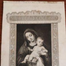Arte: GRABADO ORIGINAL H. ADLARD SC. SOBRE PINTURA DE ALONSO CANO. . Lote 194366707