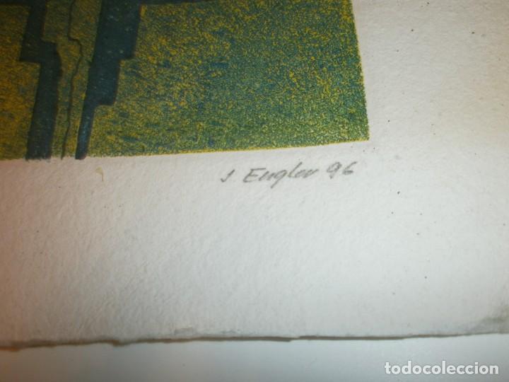 Arte: Obra gráfica Jacob Engler 96 - grabado litografía 24/30 papel 27X19 cm. mancha 14 X 11,5 cm. - Foto 4 - 194388710