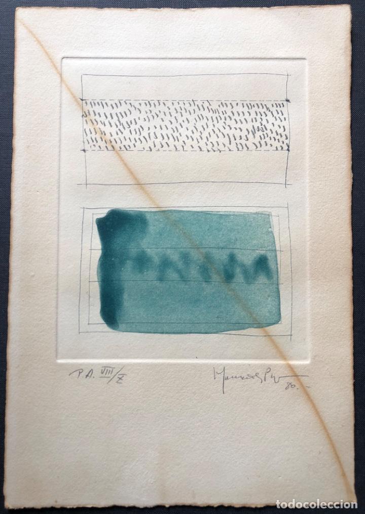 Arte: AGUAFUERTE Y AGUATINTA FIRMADO A LAPIZ, HERNÁNDEZ PIJUAN, PRUEBA DE AUTOR VIi DE X - Foto 2 - 194390770