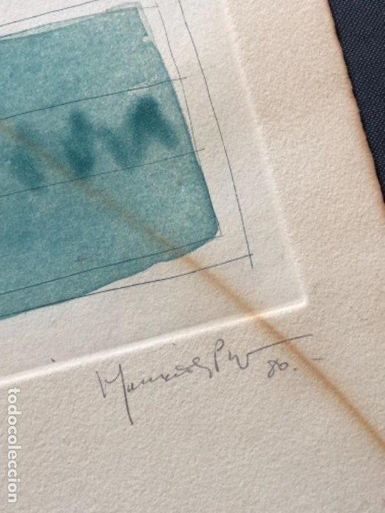 Arte: AGUAFUERTE Y AGUATINTA FIRMADO A LAPIZ, HERNÁNDEZ PIJUAN, PRUEBA DE AUTOR VIi DE X - Foto 3 - 194390770