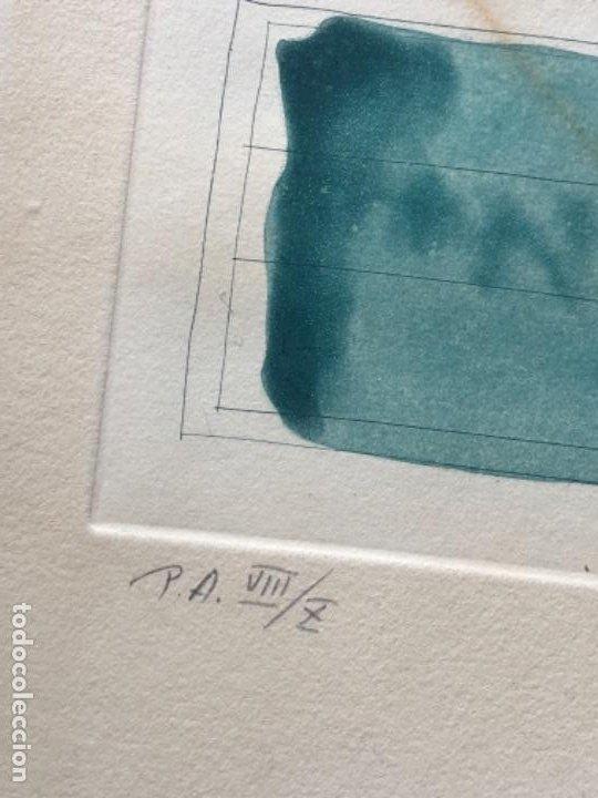 Arte: AGUAFUERTE Y AGUATINTA FIRMADO A LAPIZ, HERNÁNDEZ PIJUAN, PRUEBA DE AUTOR VIi DE X - Foto 4 - 194390770