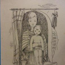 Arte: ORIGINAL. OBRA DE FRANCESC GASSÓ. MUJER. MEDIDAS 30 X 21. Lote 194491190