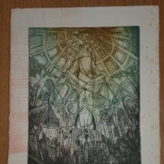 Arte: GRABADO DE MARIANO RUBIO MARTÍNEZ GRABADOR BILBILITANO. P/A ALEGORÍA DE LA VIRGEN DEL PILAR. Lote 194538105