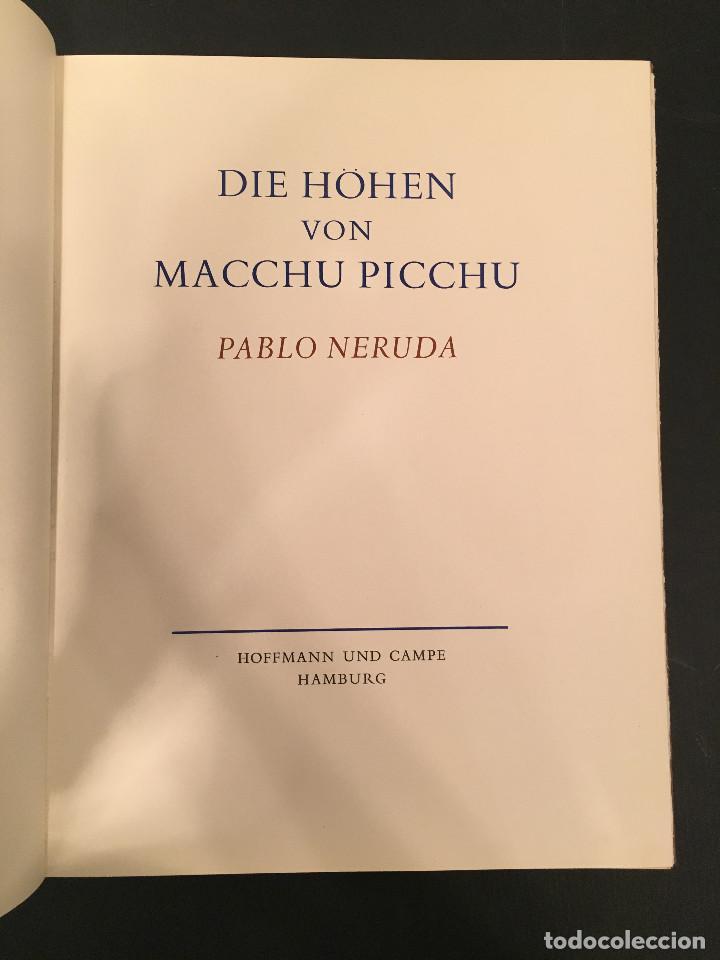 Arte: PABLO NERUDA - Alturas de / Die Höhen von Macchu Picchu - GRABADOS HAP GRIESHABER - FIRMADO - Foto 2 - 194557098
