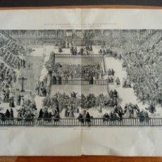 Arte: ANTIGUA LÁMINA - GRABADO, AUTO DE FE.... MADRID 1680. Lote 194597967