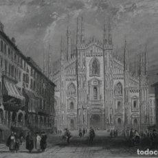 Arte: FRANCIA, ANTIGUO GRABADO CHARDON AINÉ ET FILS HAUTEFEUILLE PARIS FURNE SIGLO XIX : MILAN, ITALIA. Lote 194621553