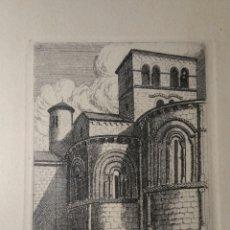 Arte: SANTILLANA DEL MAR 1961 GRABADO DE MANUEL LLEDÍAS. Lote 194635817