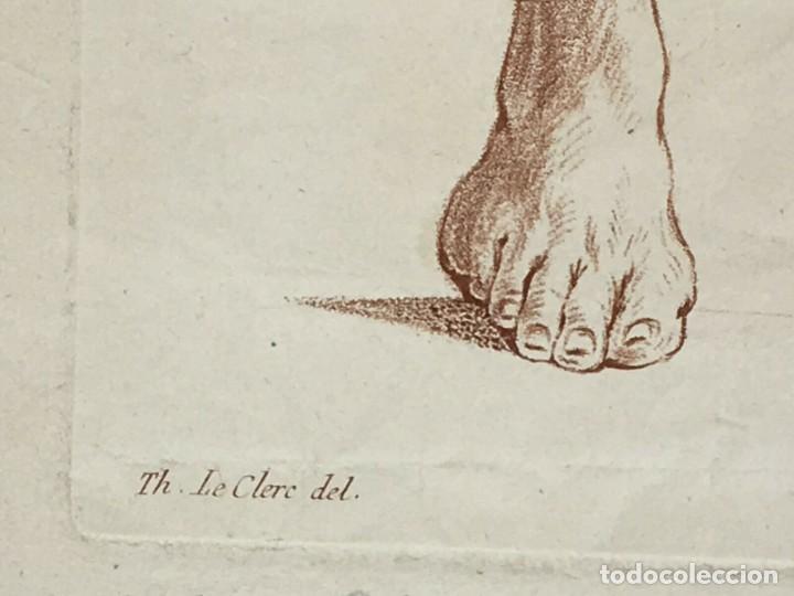 Arte: Conjunto de 2 Grabados del siglo XVIII. Estudios partes de la Anatomina Humana. Francia - Foto 6 - 194674886