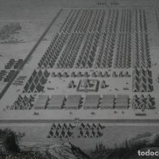 Arte: FRANCIA, ANTIGUO GRABADO S. XIX DELAMAIN GIT LE-CARUR, PARIS: CAMPAMENTO ROMANO CAMP ROMAIN. Lote 194716477
