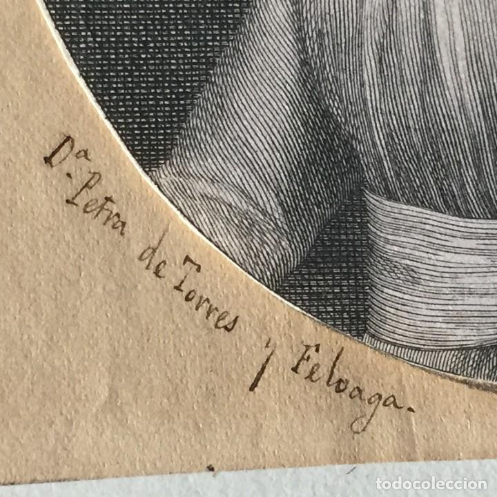 Arte: ANTIGUO GRABADO MARQUESA DE VALDEOLMOS Y DE LA TORRECILLA SXVIII ESPAÑA 17X12CM - Foto 5 - 194754800