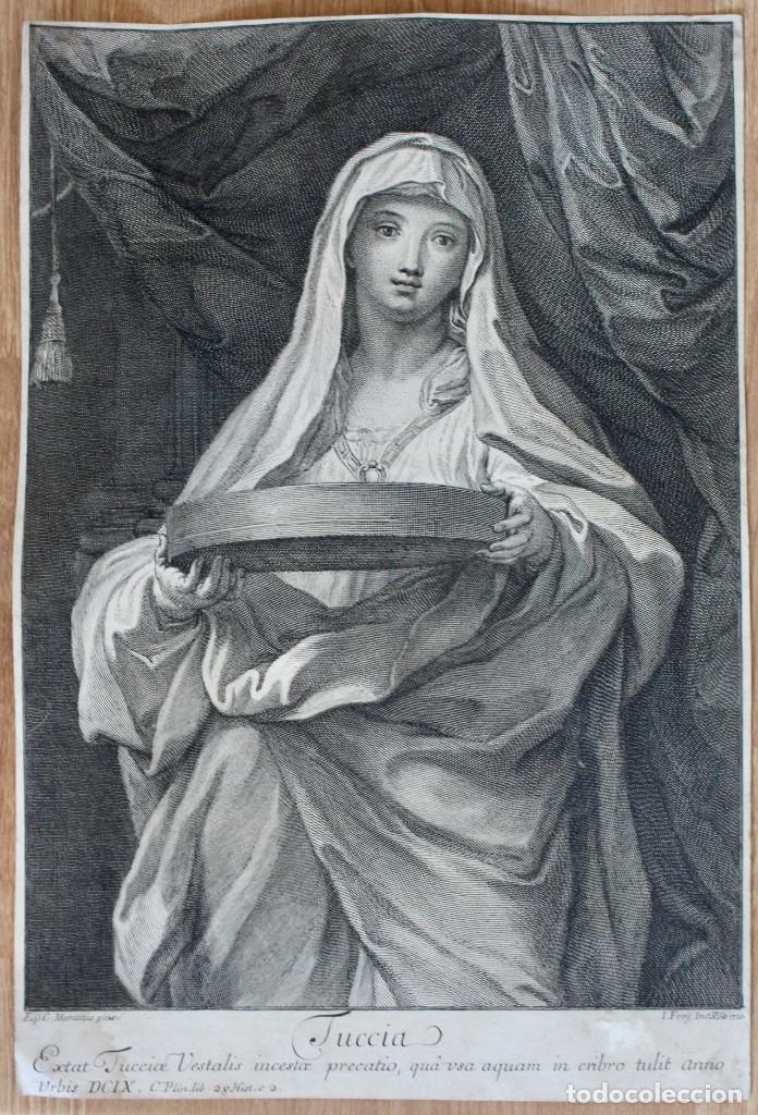 GRABADO- EPC MARATTUS PINX-TUCCIA - I FREIJ INE: ROAE 1720 (Arte - Grabados - Antiguos hasta el siglo XVIII)
