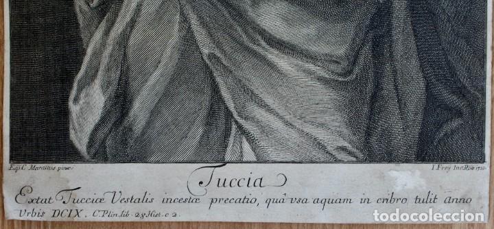 Arte: GRABADO- EPC MARATTUS PINX-TUCCIA - I FREIJ INE: ROAE 1720 - Foto 3 - 194765471