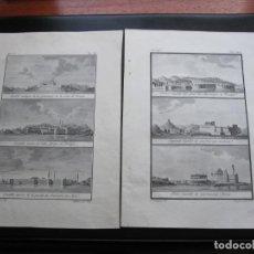 Arte: ANTIGUOS GRABADOS DE CASTILLOS DE J. VELAZQUEZ 1788. Lote 194768937