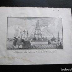Arte: ANTIGUO GRABADO DE LA MAQUINA DE ARSENAL DE CONSTANTINOPLA REALIZADO POR A. AGUADO - BARCELONA 1788. Lote 194769325