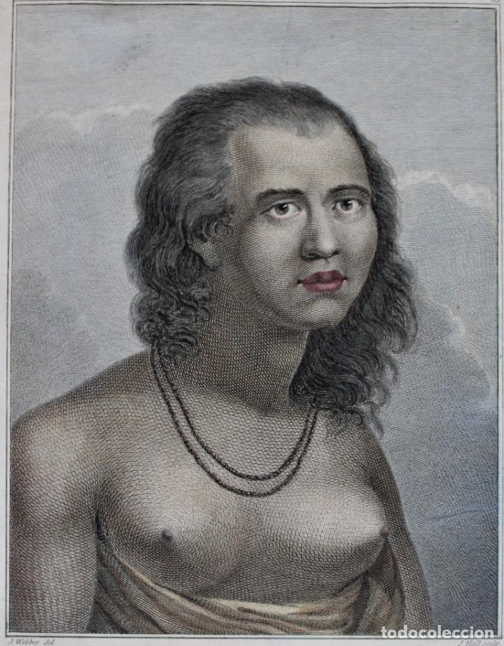 Arte: GRABADO- J.WEBBER DEL.- A WOMAN OF EAOO - J. HALL SCULP. - Foto 2 - 194788668