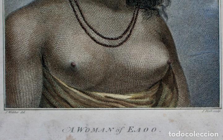 Arte: GRABADO- J.WEBBER DEL.- A WOMAN OF EAOO - J. HALL SCULP. - Foto 4 - 194788668