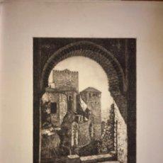 Arte: GRANADA- LA ALHAMBRA- AGUAFUERTE- JAIME POY AÑO 1.953. Lote 194780561
