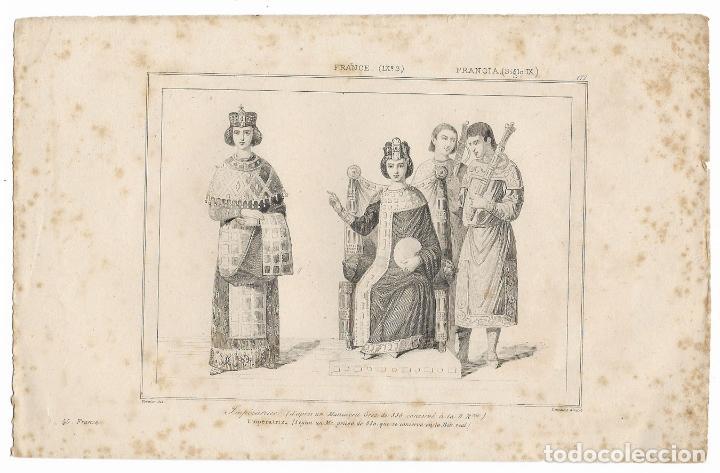 FRANCIA (S IX) IMPÉRATRICE - VERNIER DEL. LEMAITRE DIREXIT - (12,5X20) (Arte - Grabados - Modernos siglo XIX)