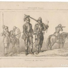 Arte: INGLATERRA (STUARTS) COSTUMES S.XVII - VERNIER DEL. LEMAITRE DIREXIT - (12,5X20). Lote 194869185