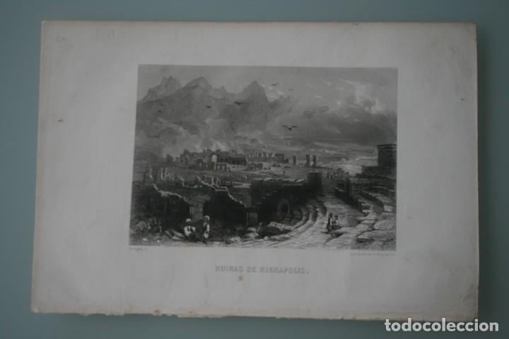 Arte: FRANCIA, ANTIGUO GRABADO CHARDON AINÉ ET FILS HAUTEFEUILLE PARIS FURNE SIGLO XIX : RUINAS HIERAPOLIS - Foto 2 - 194880135