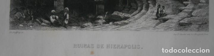 Arte: FRANCIA, ANTIGUO GRABADO CHARDON AINÉ ET FILS HAUTEFEUILLE PARIS FURNE SIGLO XIX : RUINAS HIERAPOLIS - Foto 3 - 194880135