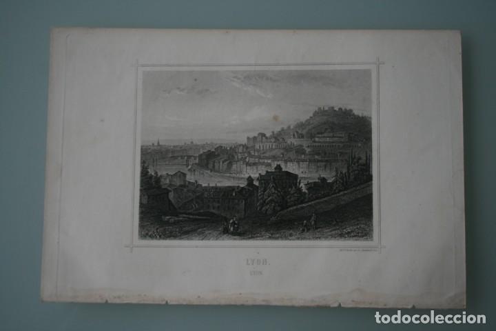 FRANCIA, ANTIGUO GRABADO CHARDON AINÉ ET FILS HAUTEFEUILLE PARIS FURNE SIGLO XIX : LYON (Arte - Grabados - Modernos siglo XIX)