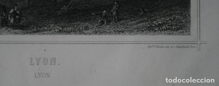 Arte: FRANCIA, ANTIGUO GRABADO CHARDON AINÉ ET FILS HAUTEFEUILLE PARIS FURNE SIGLO XIX : LYON - Foto 3 - 194880471