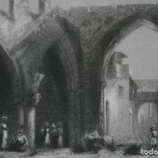 Arte: FRANCIA, ANTIGUO GRABADO CHARDON AINÉ ET FILS HAUTEFEUILLE PARIS FURNE SIGLO XIX : RUINAS DE RODAS. Lote 194880740