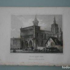 Arte: FRANCIA, ANTIGUO GRABADO CHARDON AINÉ HAUTEFEUILLE PARIS FURNE SIGLO XIX : ECLISE NOTRE DAME DIJON. Lote 194881030