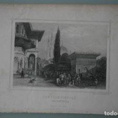 Arte: FRANCIA, ANTIGUO GRABADO CHARDON AINÉ ET FILS HAUTEFEUILLE PARIS FURNE SIGLO XIX : CONSTANTINOPLA . Lote 194881452