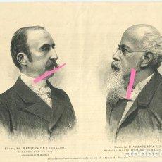 Arte: CONFERENCIANTES AMERICANISTAS: MARQUÉS DE CERRALBO Y VICENTE RIVA PALACIO. Lote 194911273