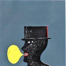Arte: SURREALISMO,GRABADO ORIGINAL,PORTA MISSE,PARCIALMENTE PINTADO AL OLEO,DEDICADO,ESTILO DALI,PICASSO. Lote 194915466