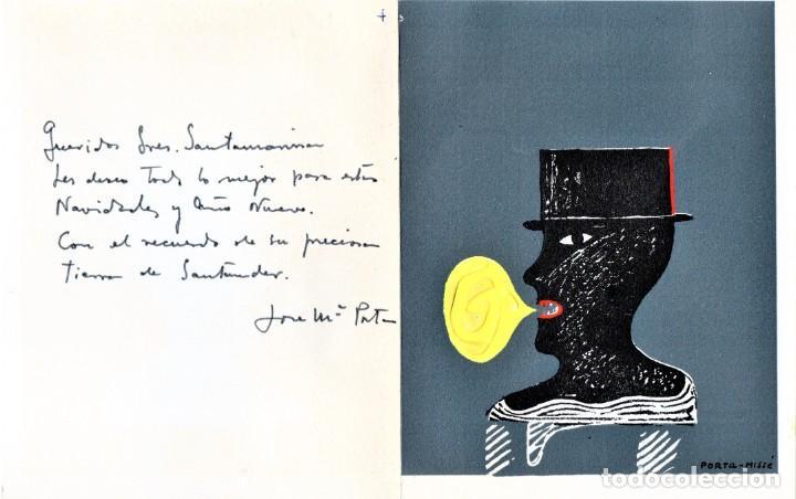 Arte: SURREALISMO,GRABADO ORIGINAL,PORTA MISSE,PARCIALMENTE PINTADO AL OLEO,DEDICADO,ESTILO DALI,PICASSO - Foto 2 - 194915466
