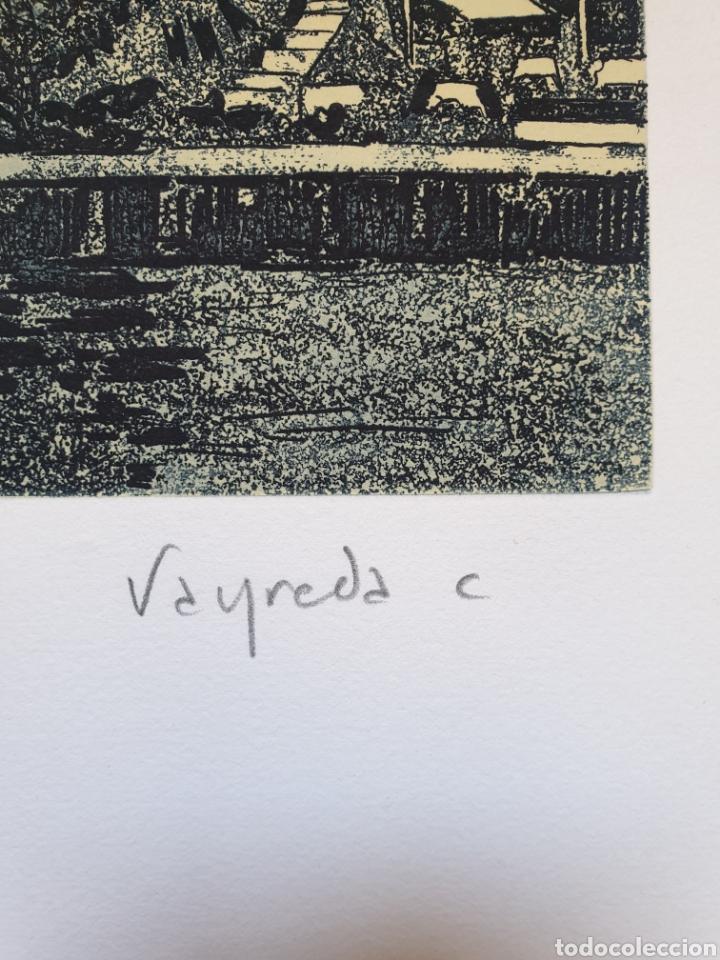 Arte: Josep Mª Vayreda Canadell (Olot, 1932-2001) - Cadaqués.Gran Grabado.Firmado. - Foto 3 - 194939866
