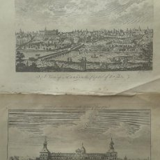 Arte: LOTE DE DOS GRABADOS: THE ROYAL PALACE AT MADRID Y A VIEW OF MADRID. Lote 194947321