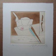 Arte: RAFOLS CASAMADA (BARCELONA, 1923-2009) GRABADO 1993 DE 19X20CMS EN PAPEL DE 38X28, FIRMADO Y 61/75. Lote 194988270