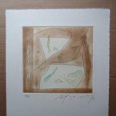 Arte: RAFOLS CASAMADA (BARCELONA, 1923-2009) GRABADO 1993 DE 19X20CMS EN PAPEL DE 38X28, FIRMADO Y 61/75. Lote 194988876