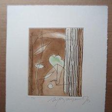 Arte: RAFOLS CASAMADA (BARCELONA, 1923-2009) GRABADO 1993 DE 19X15CMS EN PAPEL DE 38X28, FIRMADO Y 60/75. Lote 194989311