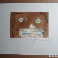 Arte: RAFOLS CASAMADA (BARCELONA, 1923-2009) GRABADO 1993 DE 19X15CMS EN PAPEL DE 38X28, FIRMADO Y 6/75. Lote 194989503