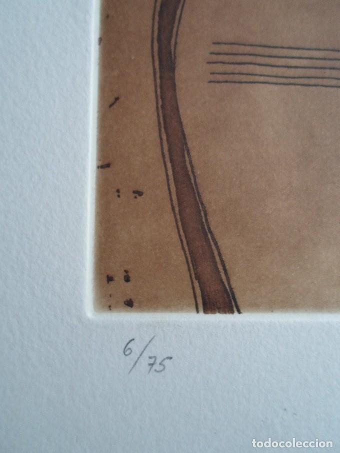 Arte: Rafols Casamada (Barcelona, 1923-2009) grabado 1993 de 19x15cms en papel de 38x28, firmado y 6/75 - Foto 4 - 194989503