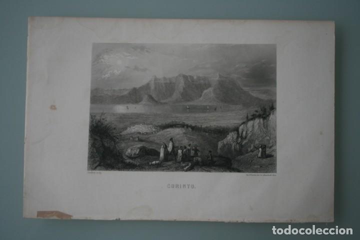 FRANCIA, ANTIGUO GRABADO CHARDON AINÉ ET FILS HAUTEFEUILLE PARIS FURNE SIGLO XIX : CORINTO (Arte - Grabados - Modernos siglo XIX)
