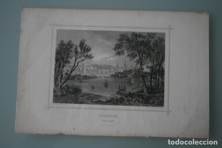 Arte: FRANCIA ANTIGUO GRABADO CHARDON AINÉ ET FILS HAUTEFEUILLE PARIS FURNE SIGLO XIX : STOCKOLM ESTOCOLMO - Foto 2 - 195030487