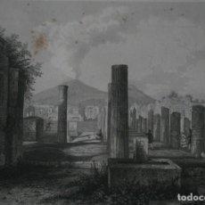 Arte: FRANCIA, ANTIGUO GRABADO CHARDON AINÉ HAUTEFEUILLE PARIS FURNE SIGLO XIX : FORO DE POMPEA POMPEYA. Lote 195030768