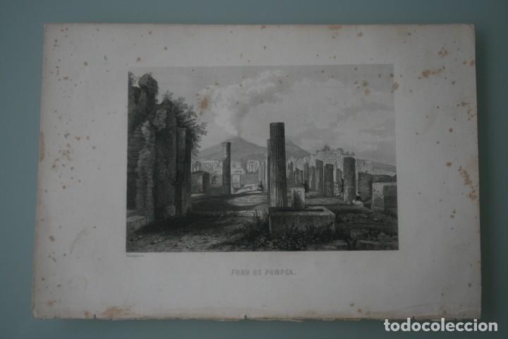 Arte: FRANCIA, ANTIGUO GRABADO CHARDON AINÉ HAUTEFEUILLE PARIS FURNE SIGLO XIX : FORO DE POMPEA POMPEYA - Foto 2 - 195030768
