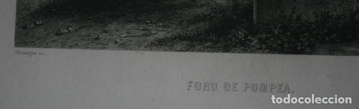 Arte: FRANCIA, ANTIGUO GRABADO CHARDON AINÉ HAUTEFEUILLE PARIS FURNE SIGLO XIX : FORO DE POMPEA POMPEYA - Foto 3 - 195030768