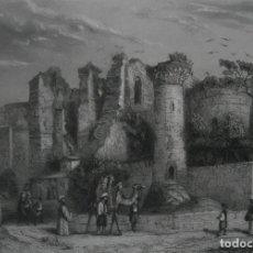 Arte: FRANCIA, ANTIGUO GRABADO CHARDON AINÉ ET FILS HAUTEFEUILLE PARIS FURNE SIGLO XIX : RUINAS DE PERGAMO. Lote 195031132