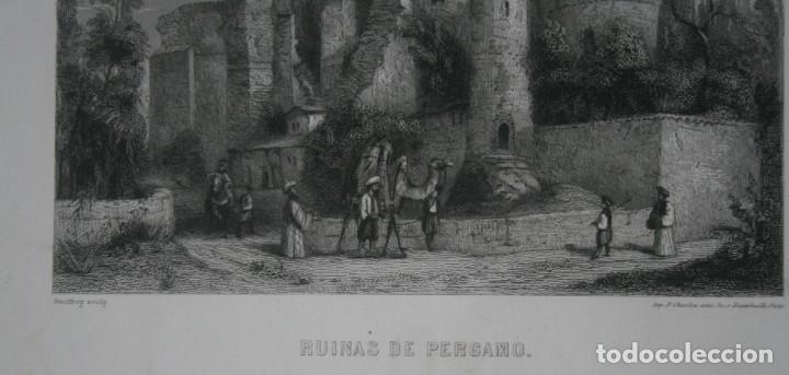 Arte: FRANCIA, ANTIGUO GRABADO CHARDON AINÉ ET FILS HAUTEFEUILLE PARIS FURNE SIGLO XIX : RUINAS DE PERGAMO - Foto 3 - 195031132