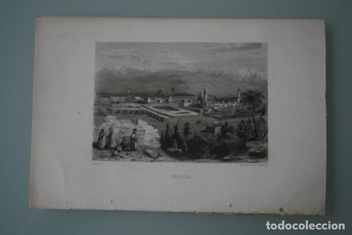 FRANCIA, ANTIGUO GRABADO CHARDON AINÉ ET FILS HAUTEFEUILLE PARIS FURNE SIGLO XIX : TARSO (Arte - Grabados - Modernos siglo XIX)